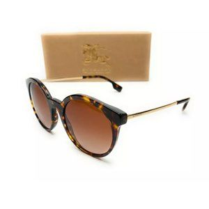 Burberry Women's Dark Havana Round Sunglasses!